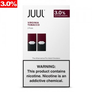 Juul Pods - 2-pack Virginia Tobacco 3% 8ct box