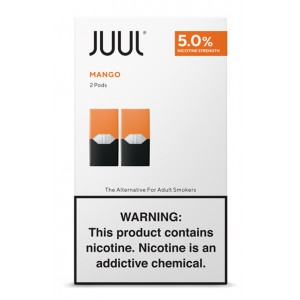 COMING SOON  Juul Pods - 2-pack Mango 5% 8ct box